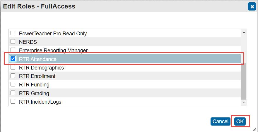 Edit Roles - Full Access