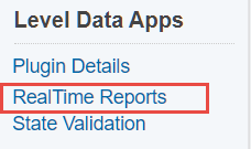 Level Data Apps - Apply User Reports to Reports