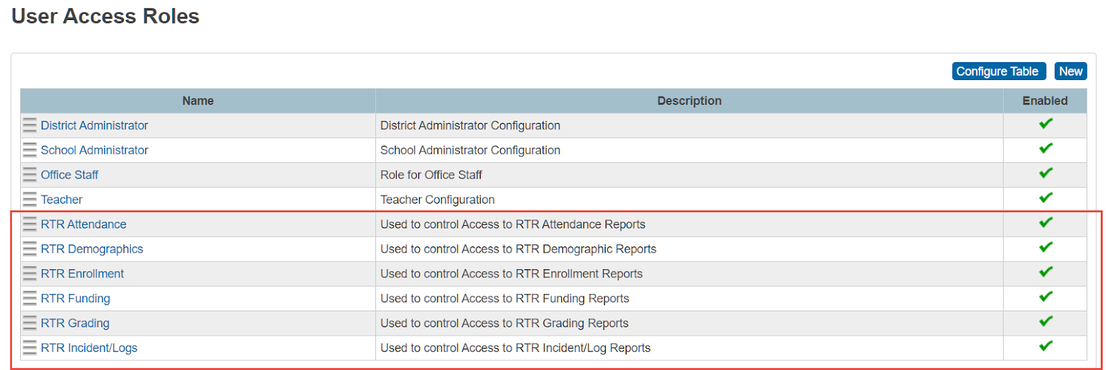 Report Based Security User Access Role Creation