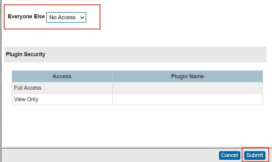 User Access - No Access